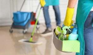cropped picture of professionals sprucing up a property